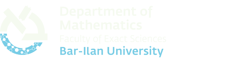 Department of Mathematics Bar-Ilan University